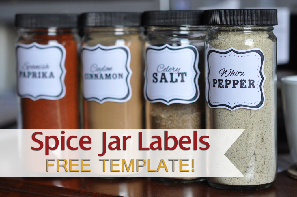 Spice jar labels template free a printable editable saveonsolar. Info.